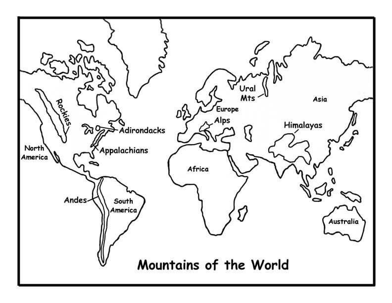 792x612 Mountains Of The World Coloring Page
