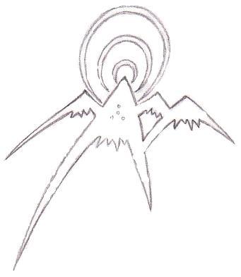 341x393 Mountain Symbol Pencil Sketch By Omanoct