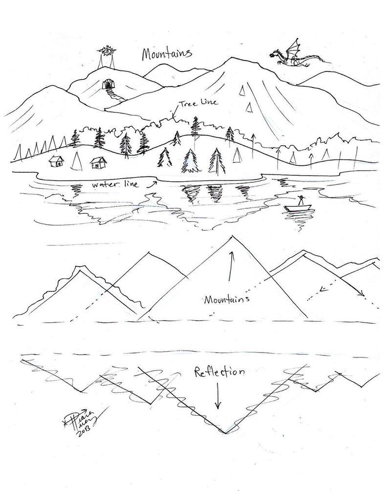 Mountain Scenery Drawing At Getdrawings Com Free For Personal Use