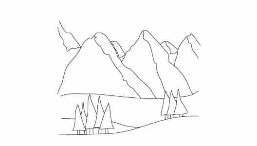 528x300 How To Draw Mountains
