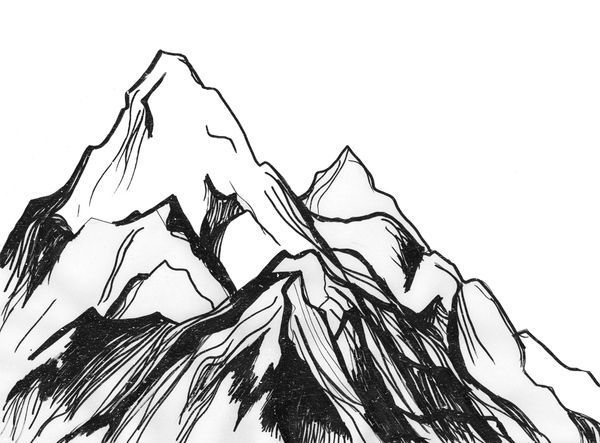 600x443 Image result for mountains sketch Draw Pinterest Mountain