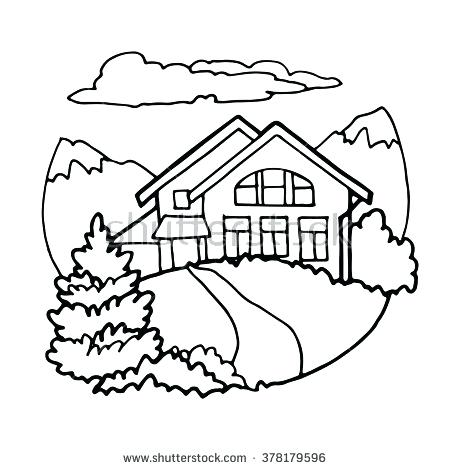450x470 small house drawing –