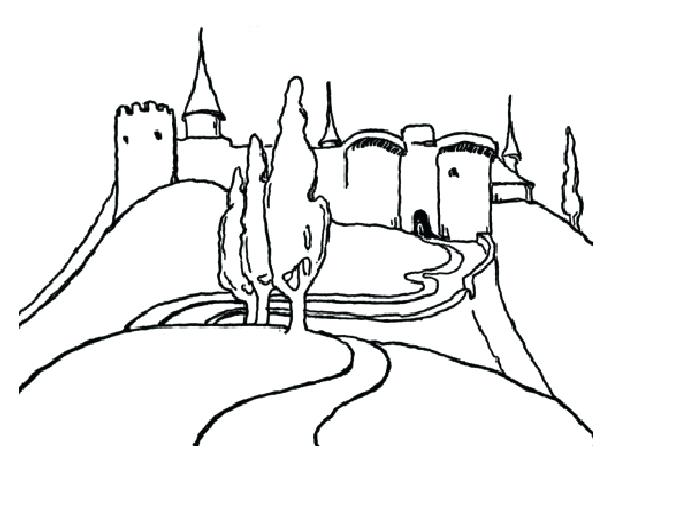 681x528 Coloring Pages Of Mountains Coloring Pages Of Castle On A High