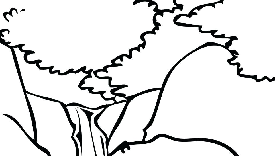 960x544 Coloring Pages Of Mountains Mountains Coloring Page Mountain
