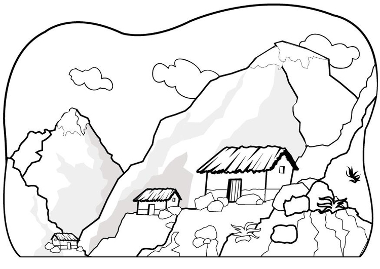 750x531 Coloring Page Mountains