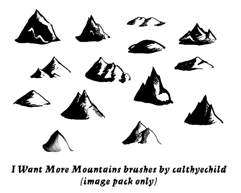800x643 I Want More Mountains Brushes By Calthyechild