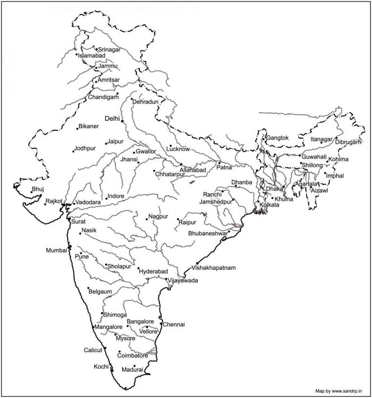 1200x1286 India Map Rivers And Mountains