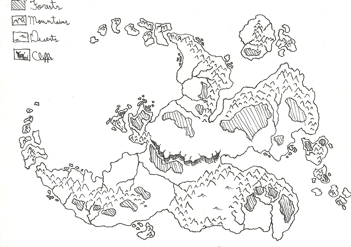 fantasy world map drawing
