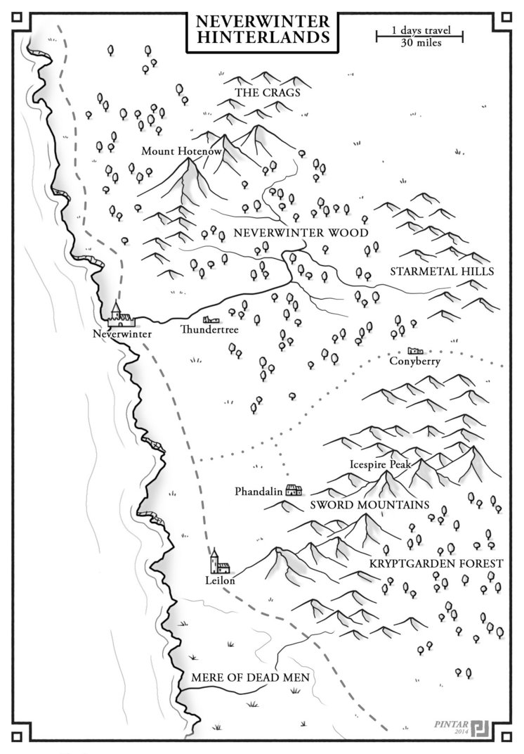 746x1072 A Map For Lost Mine Of Phandelver Dungeons Amp Dragons