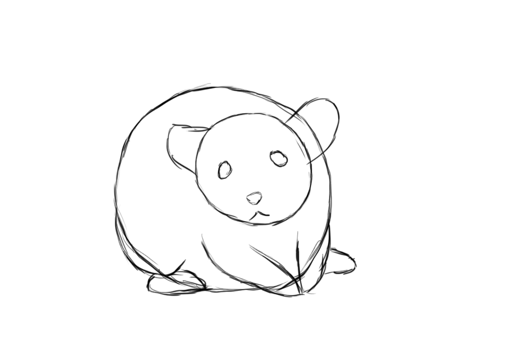 1040x721 How To Draw A Mouse