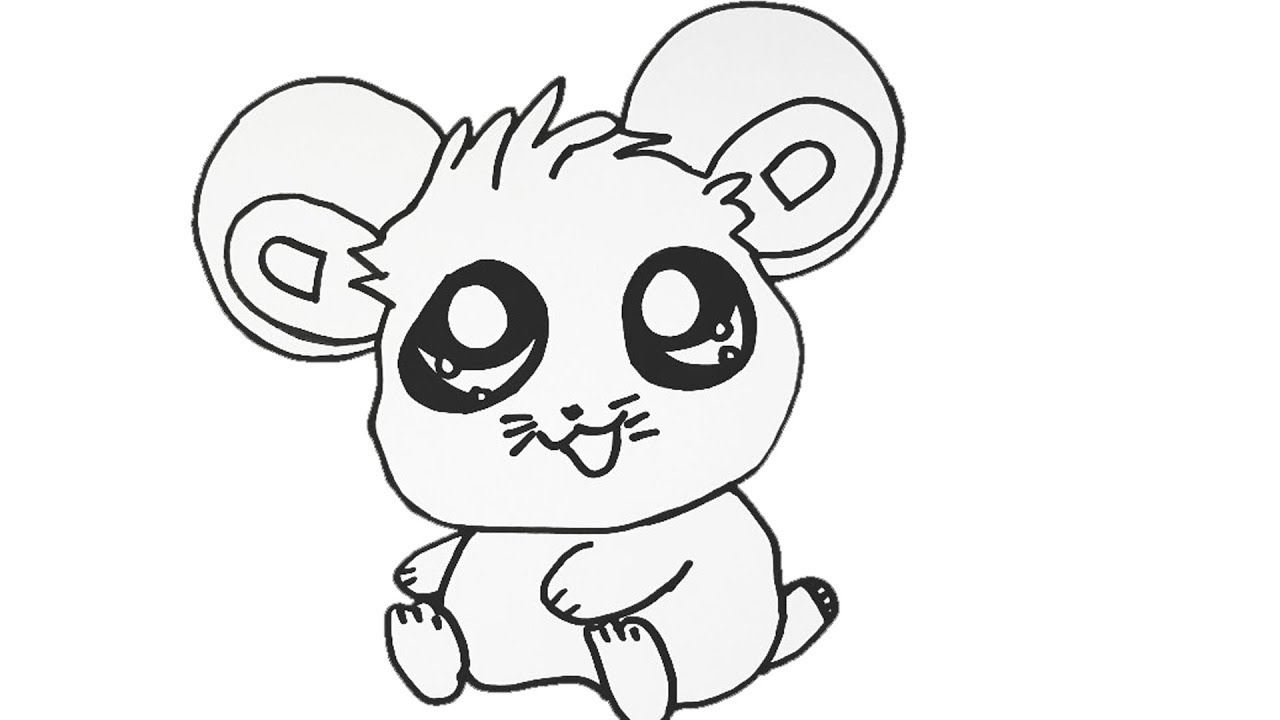 1280x720 How To Draw Cute Mouse Little Mouse Easy Draw Tutorial