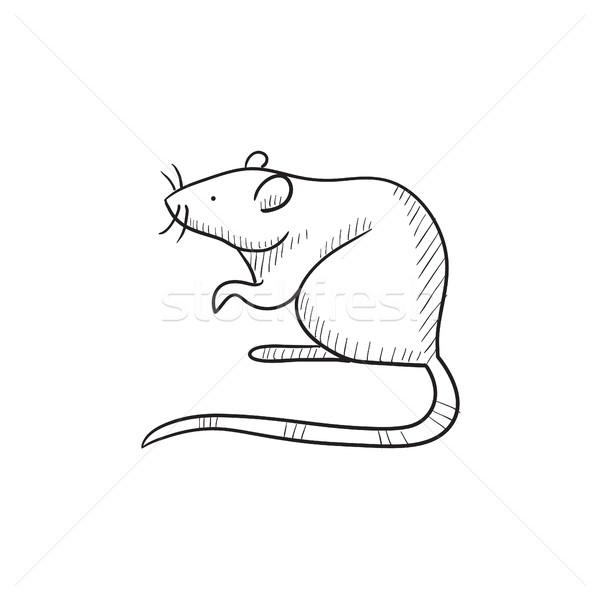 600x600 Mouse Sketch Icon. Vector Illustration Andrei Krauchuk (Rastudio