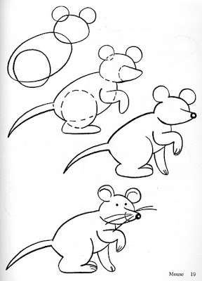 288x400 How To Draw A Cat And A Mouse Drawing