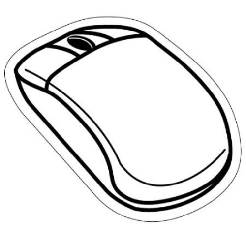 500x500 Computer Mouse Magnet