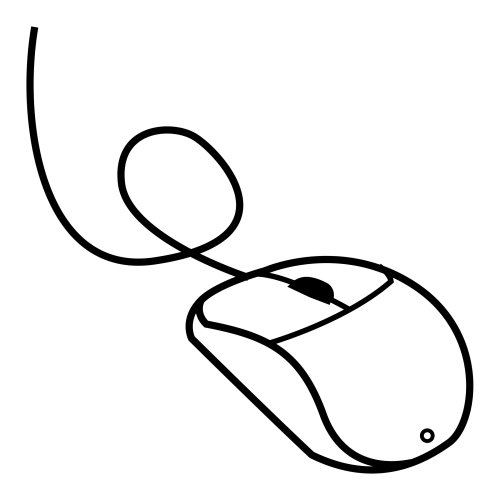 500x500 Mouse Computer Coloring Pages