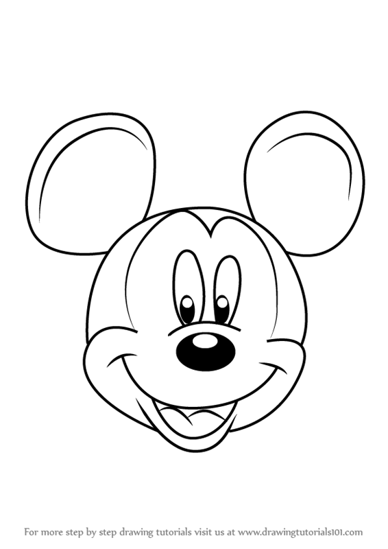 566x800 Learn How To Draw Mickey Mouse Face From Mickey Mouse Clubhouse