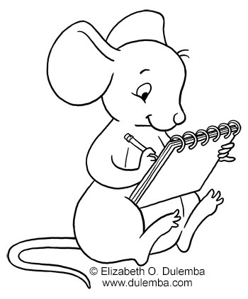 350x423 Draw Coloring Pages Dulemba Coloring Page Tuesday Drawing Mouse