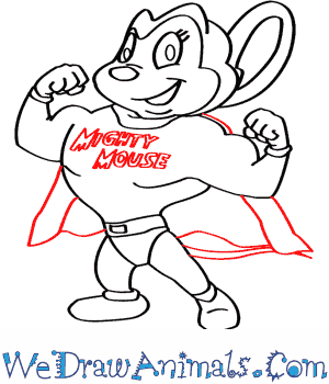 300x350 How To Draw Mighty Mouse