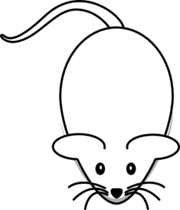 255x297 Mouse With Smaller Ears Clip Art