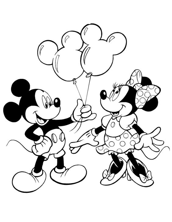 564x729 Minnie Mouse Outline