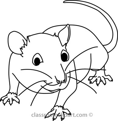388x400 Mouse Outline Clipart