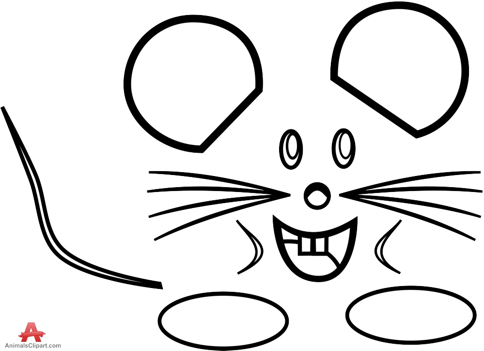 999x724 Outline Drawing Of Small Mouse In Black And White Free Clipart
