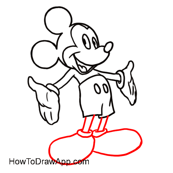 600x600 Outline Of Mickey Mouse Free Download Clip Art Free Clip Art