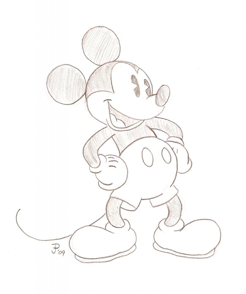 856x1024 Mickey Mouse Drawings In Pencil Mickey Mouse Pencil Drawing By