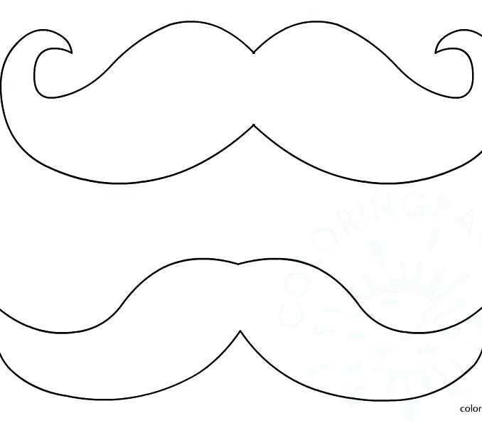 Moustache drawing at free for personal for Moustache coloring pages