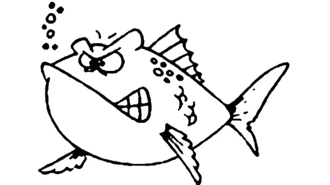 1280x720 How To Draw An Angry Cartoon Fish
