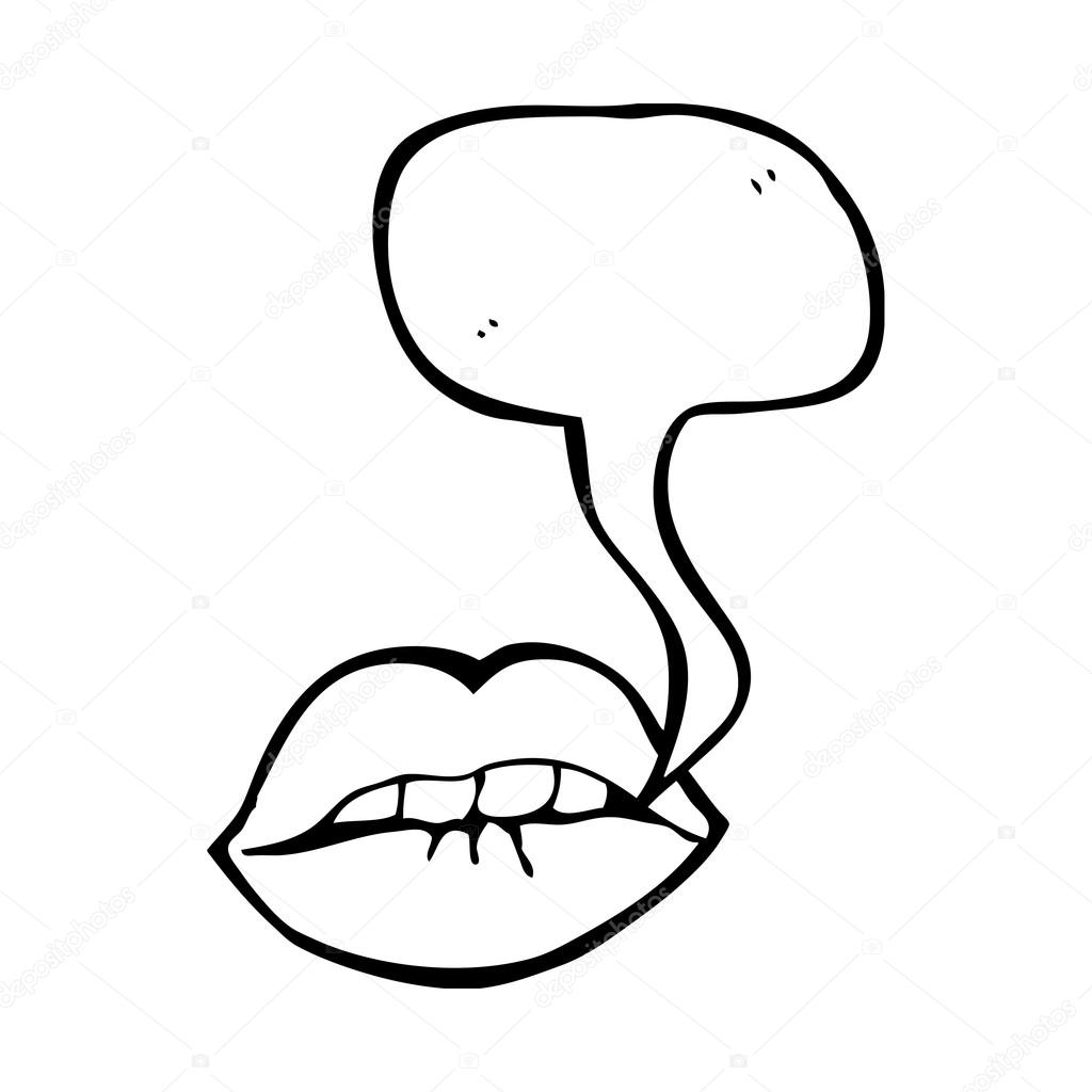 1024x1024 Talking Mouth Stock Vector Lineartestpilot