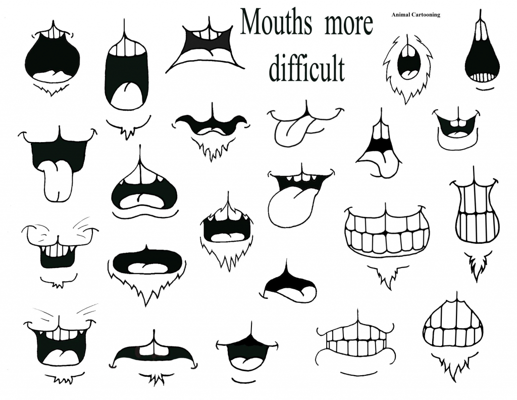 1024x791 Cartoon Mouth Drawing Images About Draw Eyes Etc