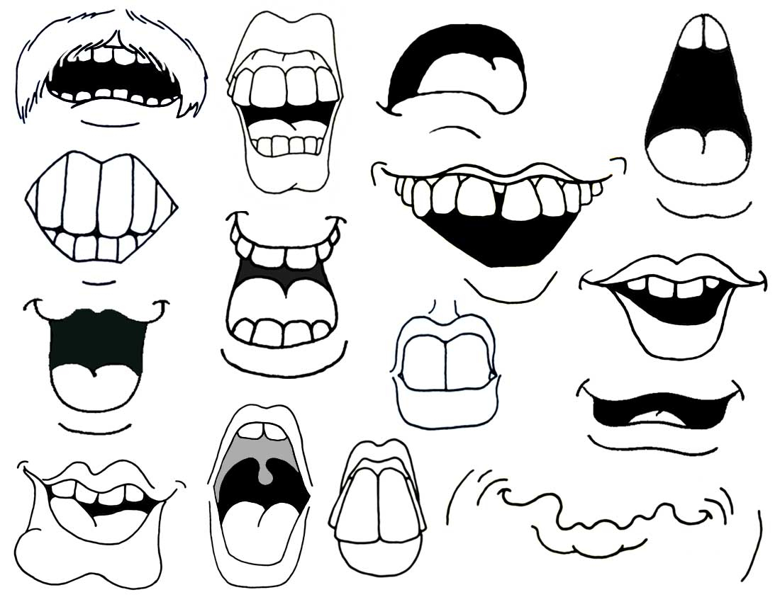 1100x850 Cartoon Mouth Drawing How To Draw Cartoon Mouths.