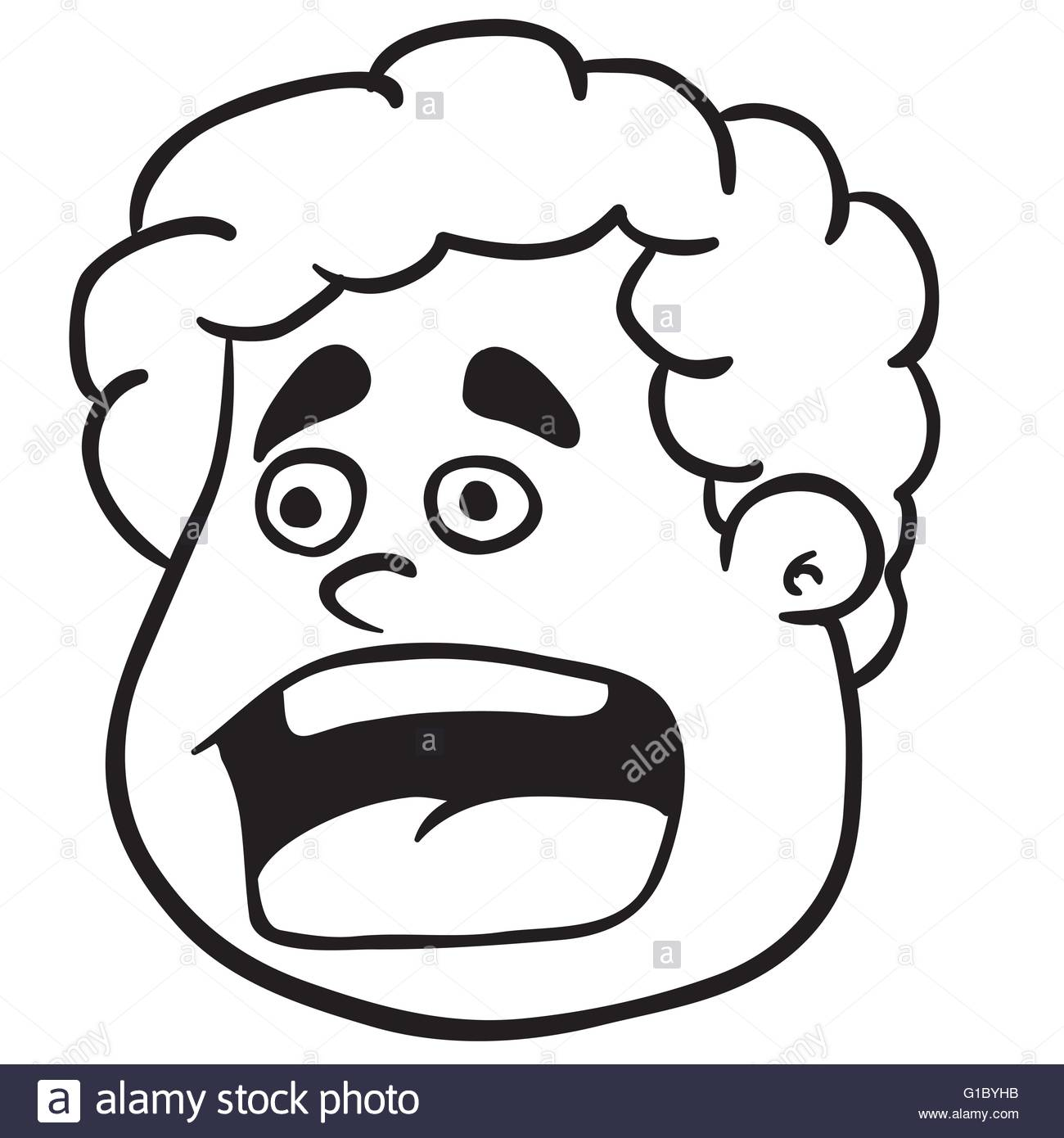 1300x1390 Open Mouth Scream Stock Vector Images