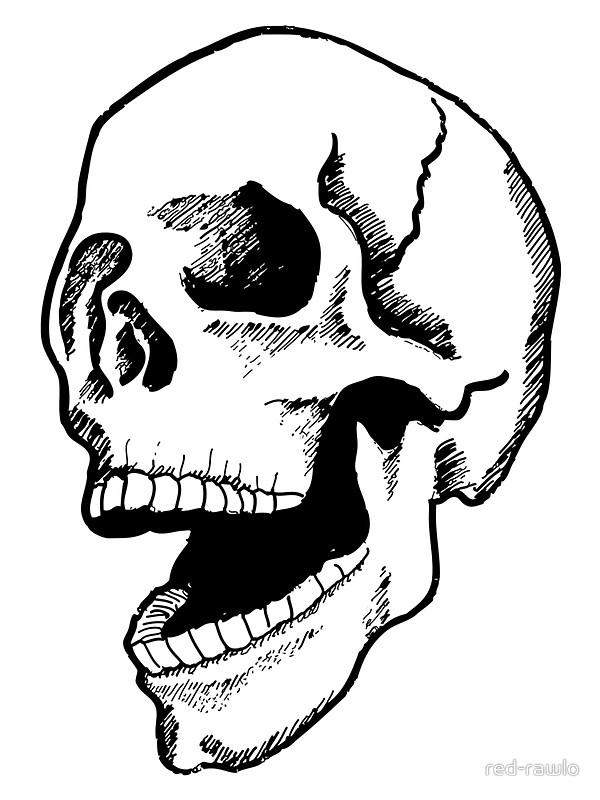 600x800 Demonic Skull Stickers By Red Rawlo Redbubble