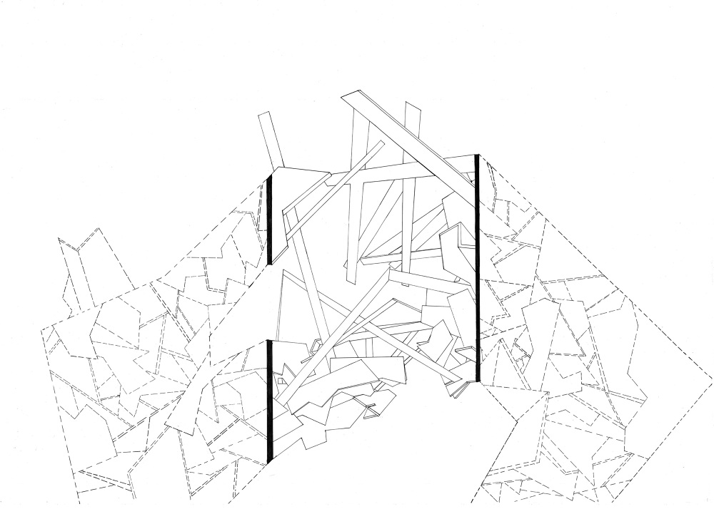 1000x714 Framing The Movement (Architecture Drawing)