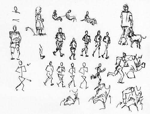 500x380 Diane Wright Art Journal Gesture Drawing