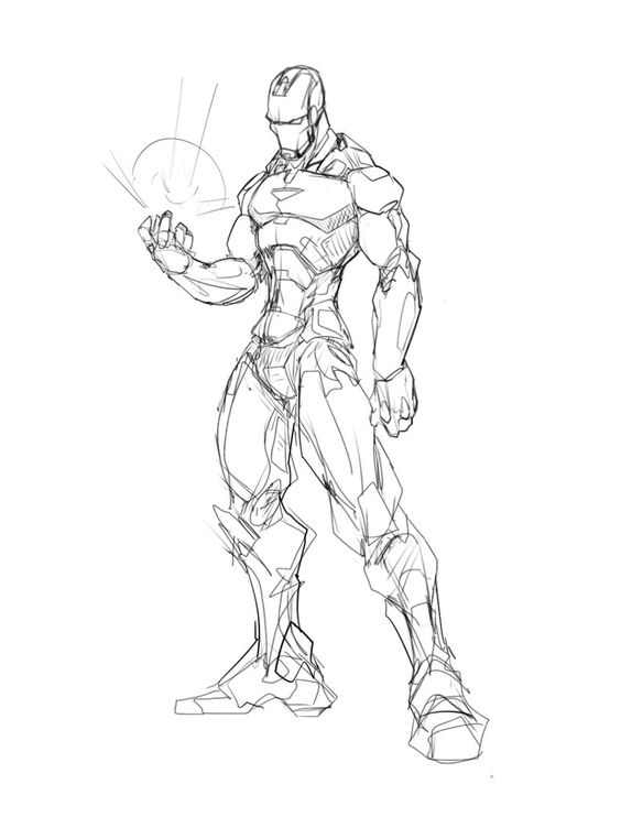 564x752 Warm Up Sketch. Continuing Trend Of Drawing All The Avengers
