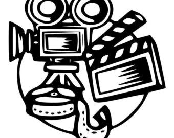 340x270 Movie Camera Decal Etsy