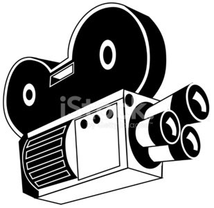 309x300 Old Film Movie Camera Stock Vectors