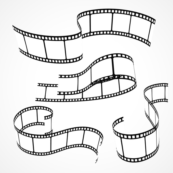 600x600 Hand Drawn Film Reel Vector 01