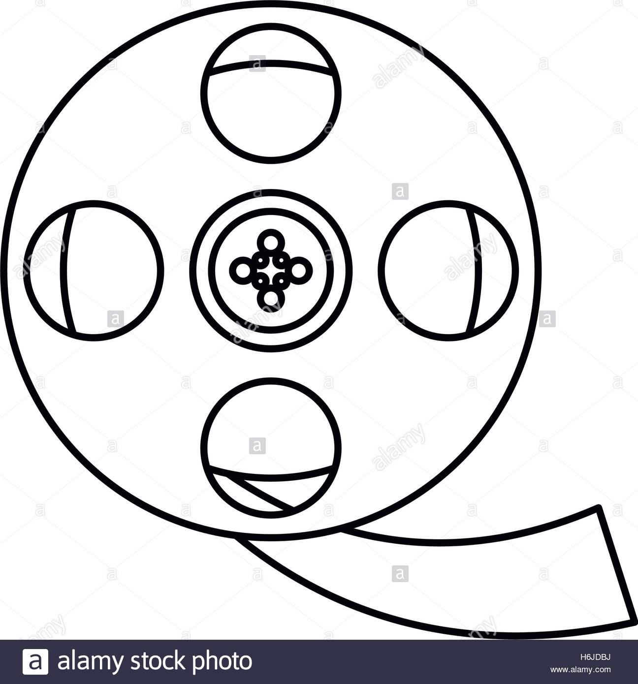 1296x1390 Isolated Cinema Film Reel Design Stock Vector Art Amp Illustration