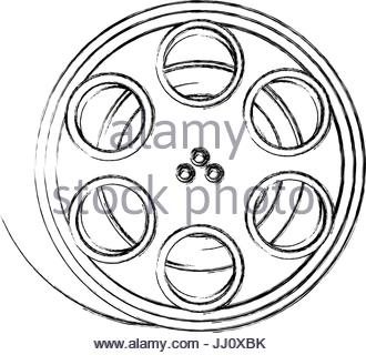 330x320 Film Stripe Reel On Movie Cinema Negative Stock Vector Art