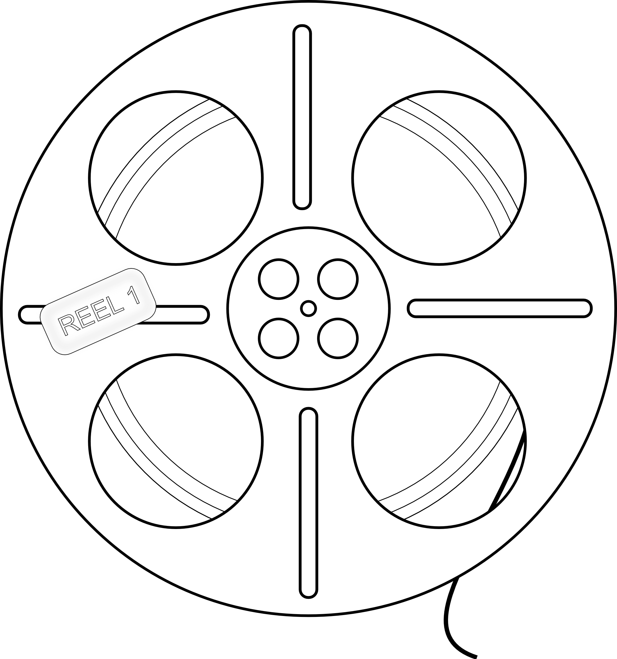 1979x2114 8 Images Of Movie Reel Coloring Page