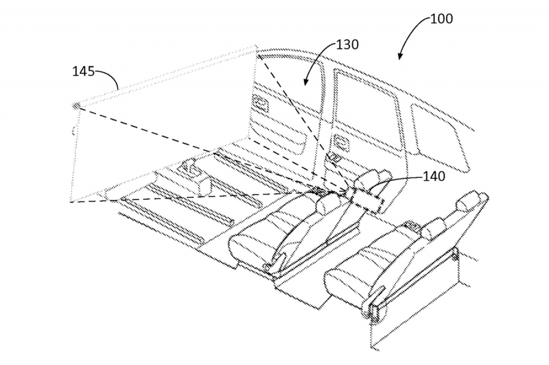 800x533 Ford Patents An In Car Movie Theater That Covers Self Driving