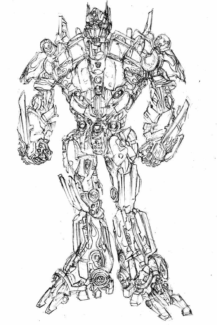 700x1051 Movie Optimus Prime By Phil Cho