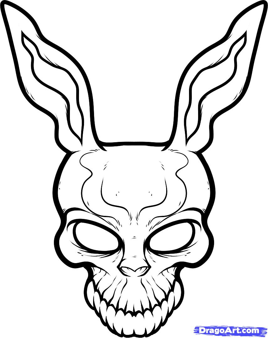 855x1079 Donnie Darko Rabbit Drawing How To Draw Frank The Rabbit, Donnie