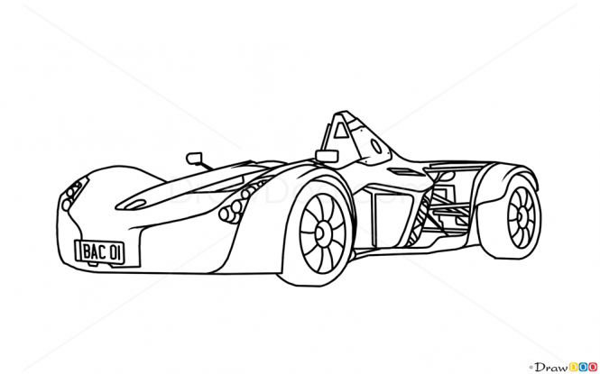 665x415 How To Draw Bac Mono, Supercars Drawings