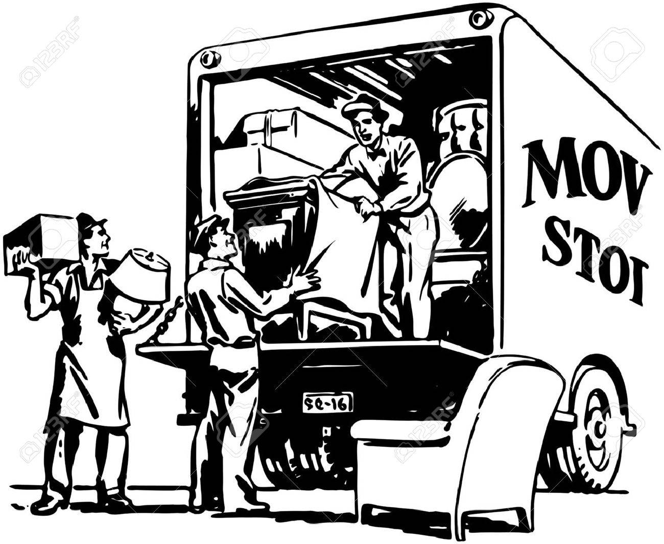 1300x1064 Packing Moving Van Royalty Free Cliparts, Vectors, And Stock