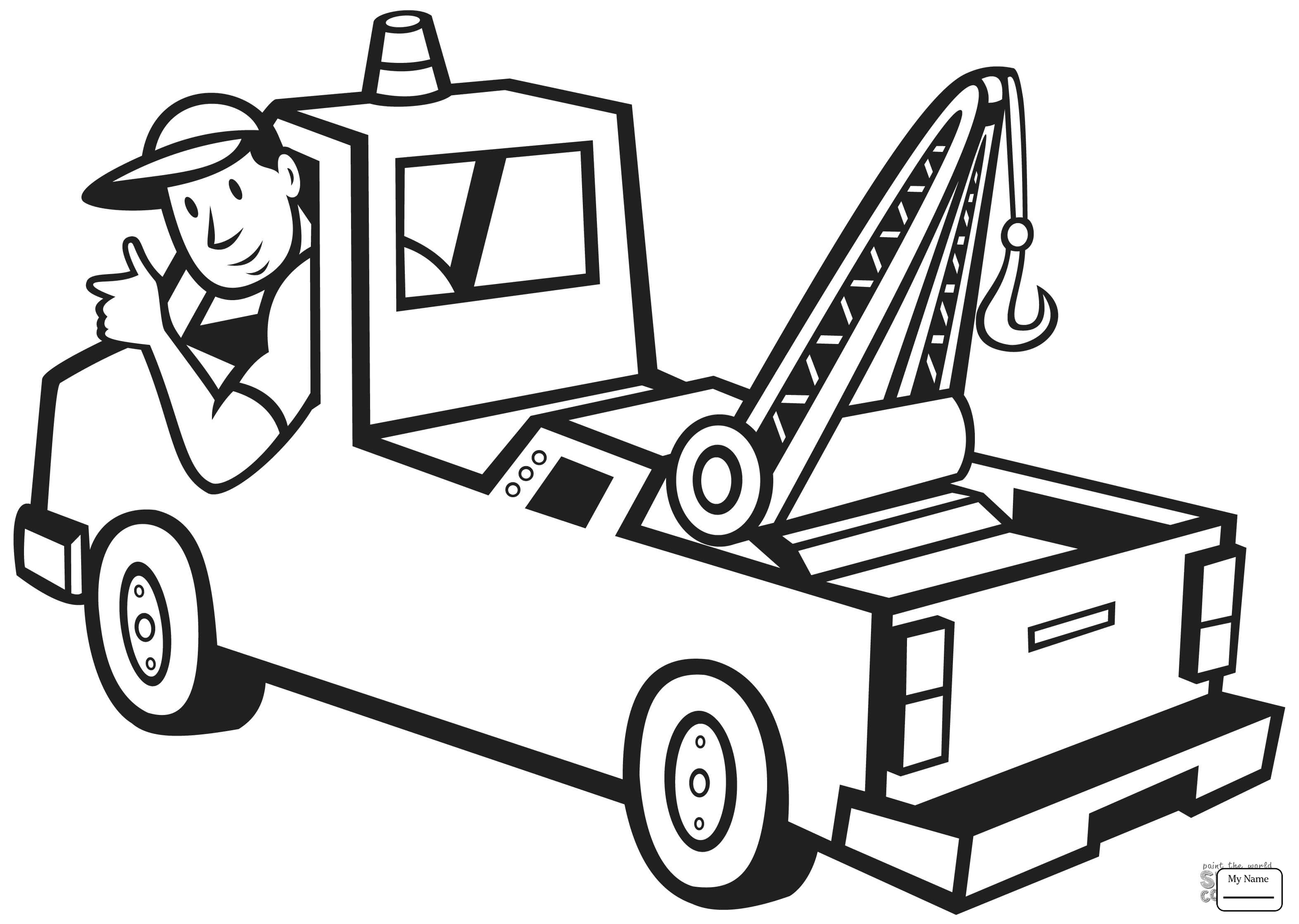 3138x2232 Truck Driver People Coloring Pages